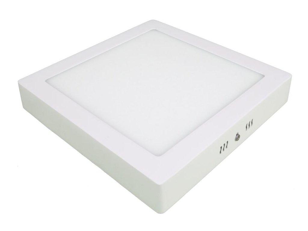 PS18 LED panel 18W přisazený čtverec 220x220mm - Teplá bílá