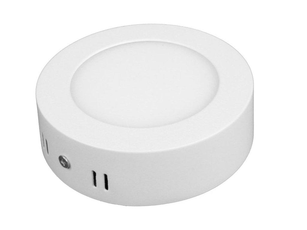 PL6 LED panel 6W přisazený kulatý 115mm - Denní bílá