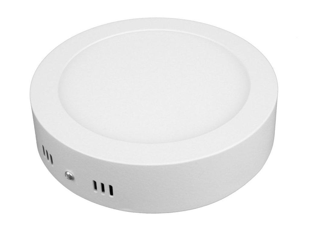 PL12 LED panel 12W přisazený kulatý 166mm - Studená bílá