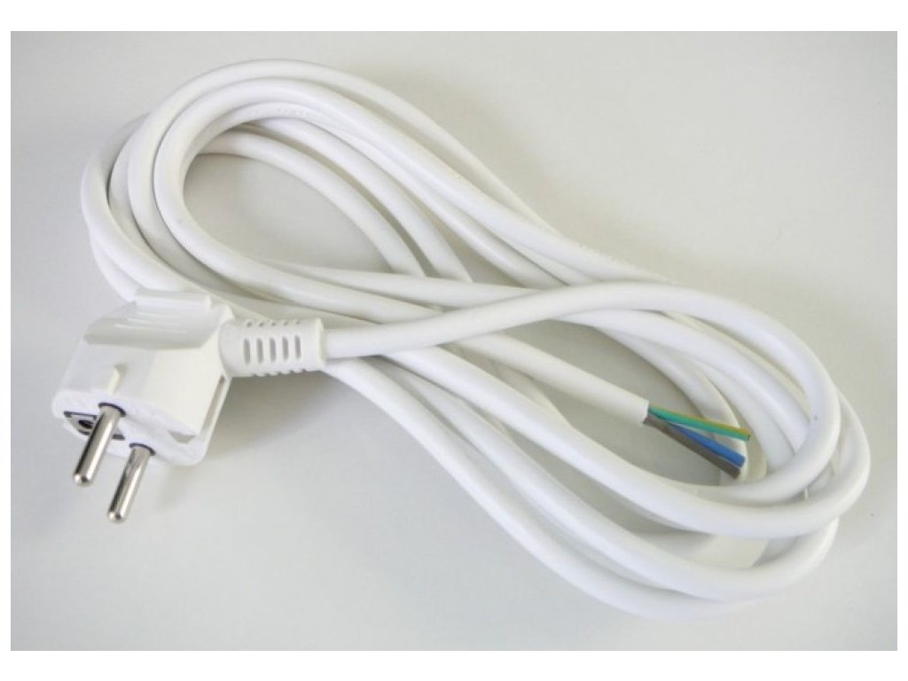 Flexo šnůra 2 metry 3x1 vodič - Bílá