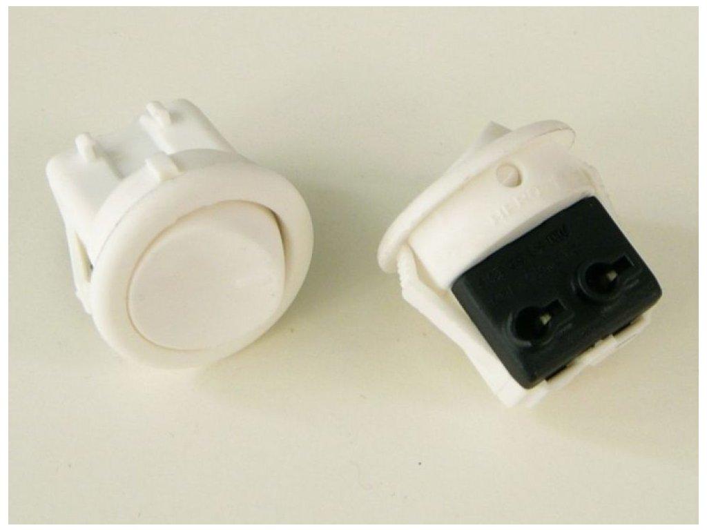 Vypínač kolébkový 250V/3A - Bílá