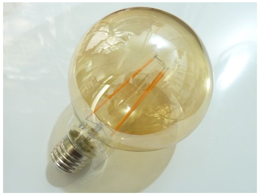 LED žárovka E27 EKF4W G95 FILAMENT kulatá - LED žárovka E27 EKF4W G95 FILAMENT kulatá