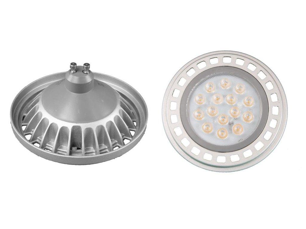 LED žárovka GU10 AR111 X45/100 15W - Teplá bílá