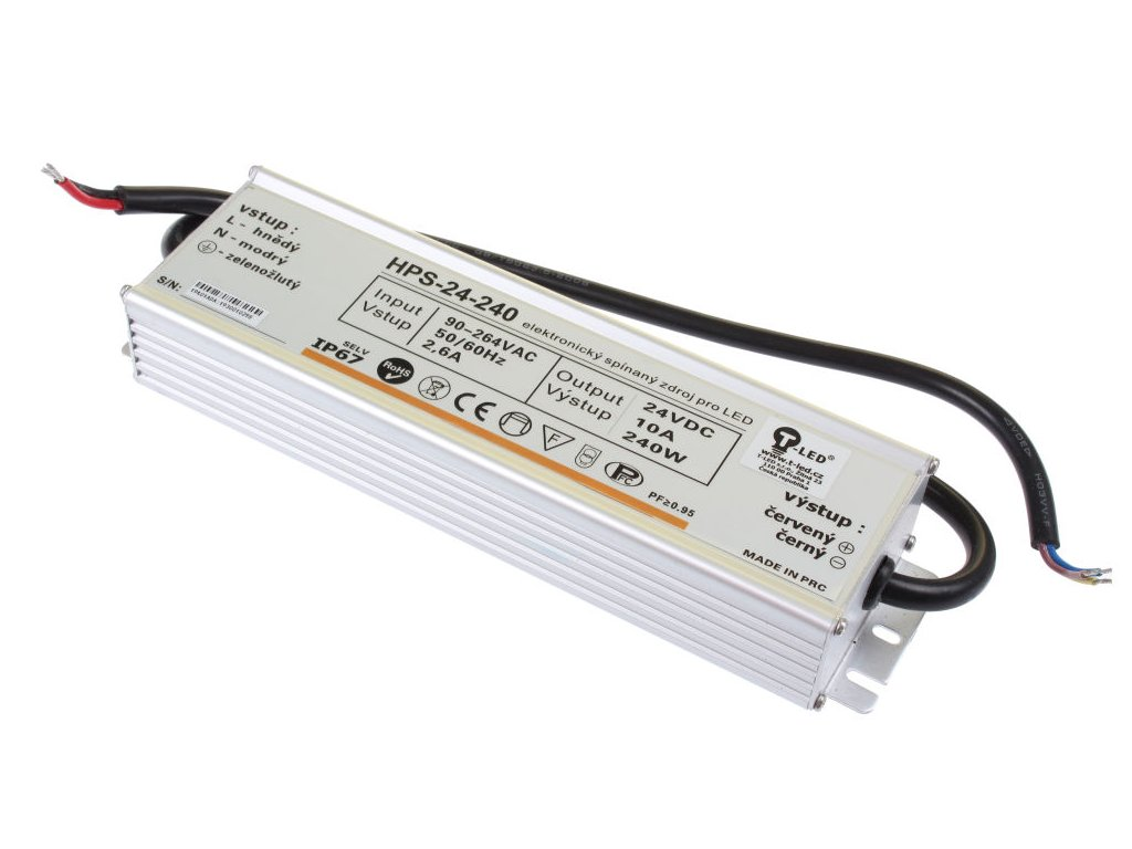 LED zdroj 24V 240W HPS-24-240 Záruka 5 let - LED zdroj 24V 240W HPS-24-240 Záruka 5 let