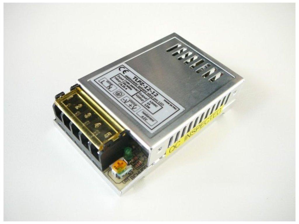 LED zdroj 12V 12W vnitřní - 12V 12W zdroj vnitřní TLPZ-12-12