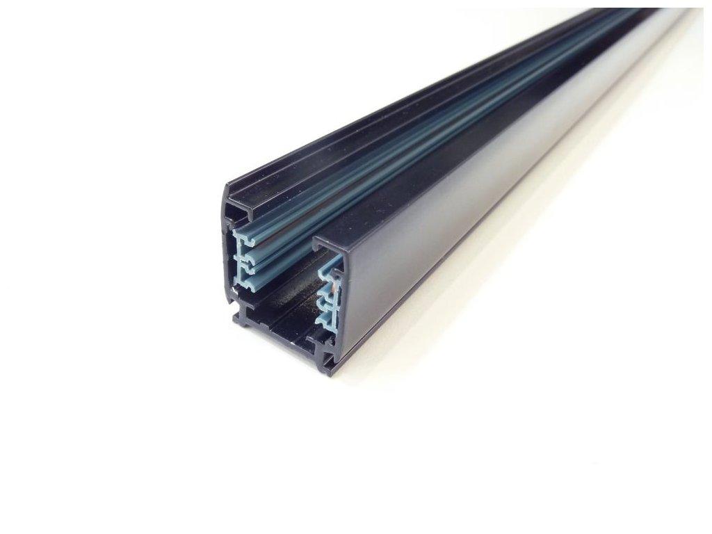 Třífázová lišta 3F pro třífázová svítidla - 200cm černá lišta