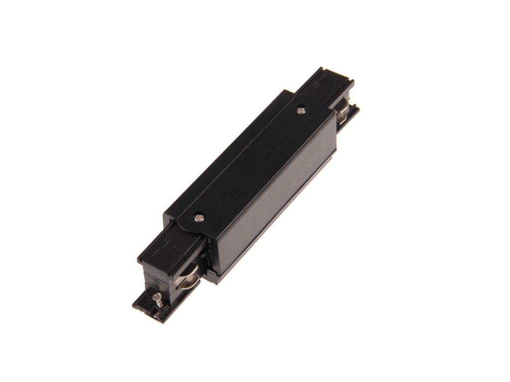 I spojka dlouhá s připojením 3F pro třífázovou lištu - Černá