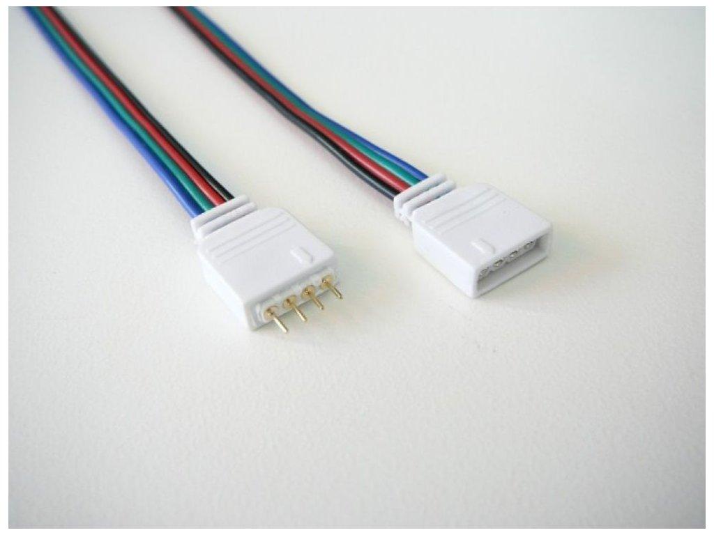 4pin RGB spojovací sada s kabelem - 4pin RGB spojovací sada s kabelem
