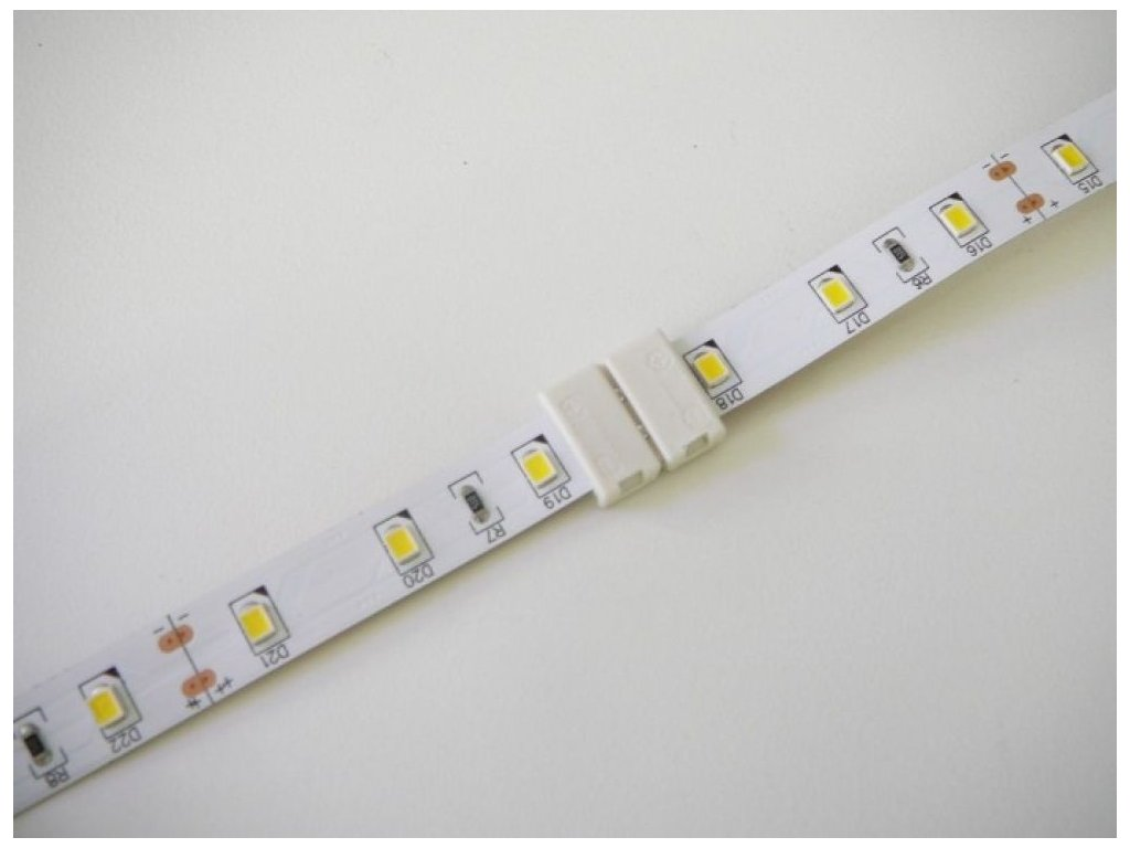 1barva spojka click pro LED pásek - 10mm
