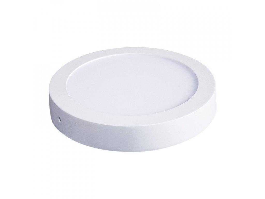 Solight LED panel přisazený, 12W, 900lm, 4000K, kulatý, bílý