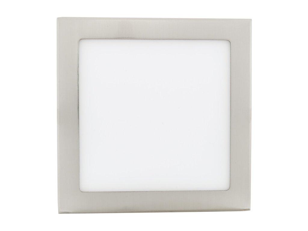 Chromový vestavný LED panel 225x225mm 18W teplá bílá