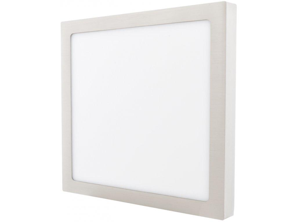 Stmívatelný Chromový přisazený LED panel 300 x 300mm 25W denní bílá