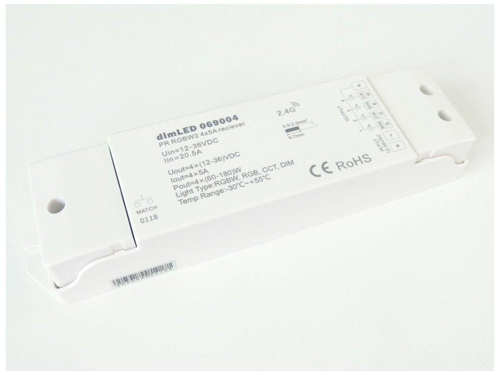 Přijímač dimLED PR RGBW2 - Přijímač dimLED PR RGBW2