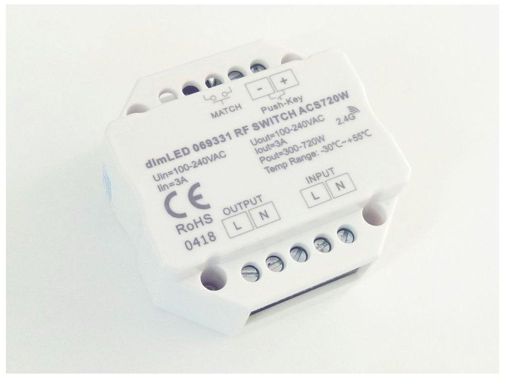 Spínač dimLED RF ACS720W - Spínač dimLED RF ACS720W