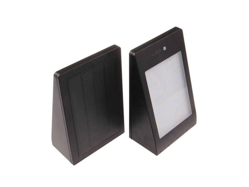 LED solární svítidlo MURO černé - Studená bílá