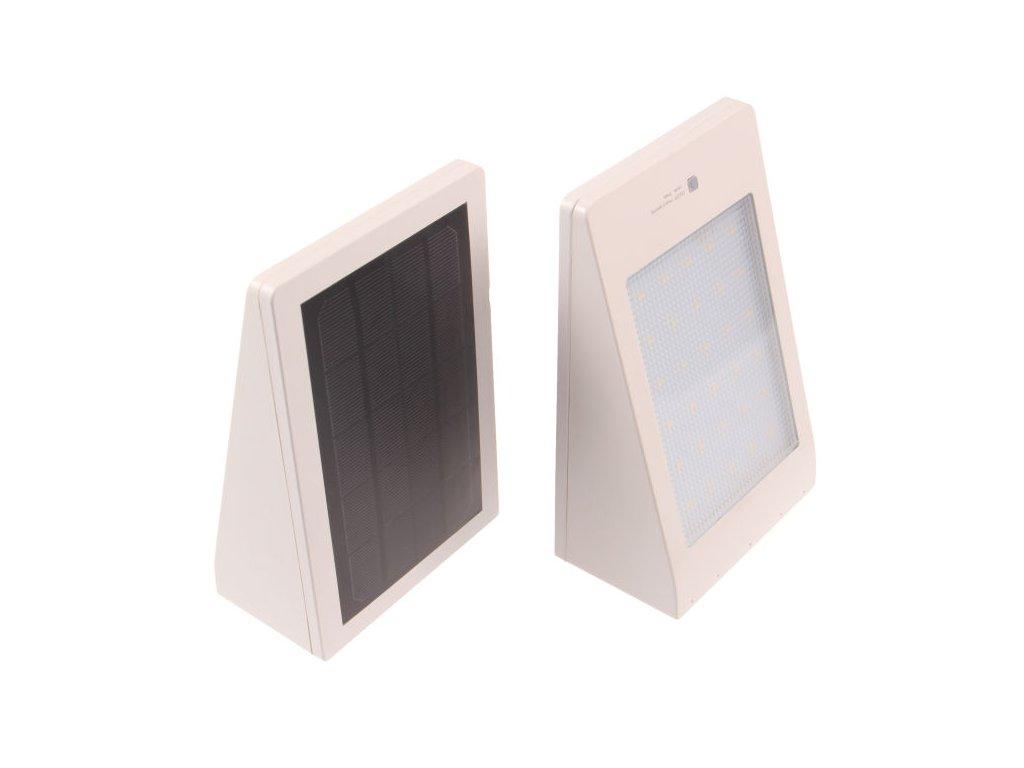 LED solární svítidlo MURO bílé - Studená bílá