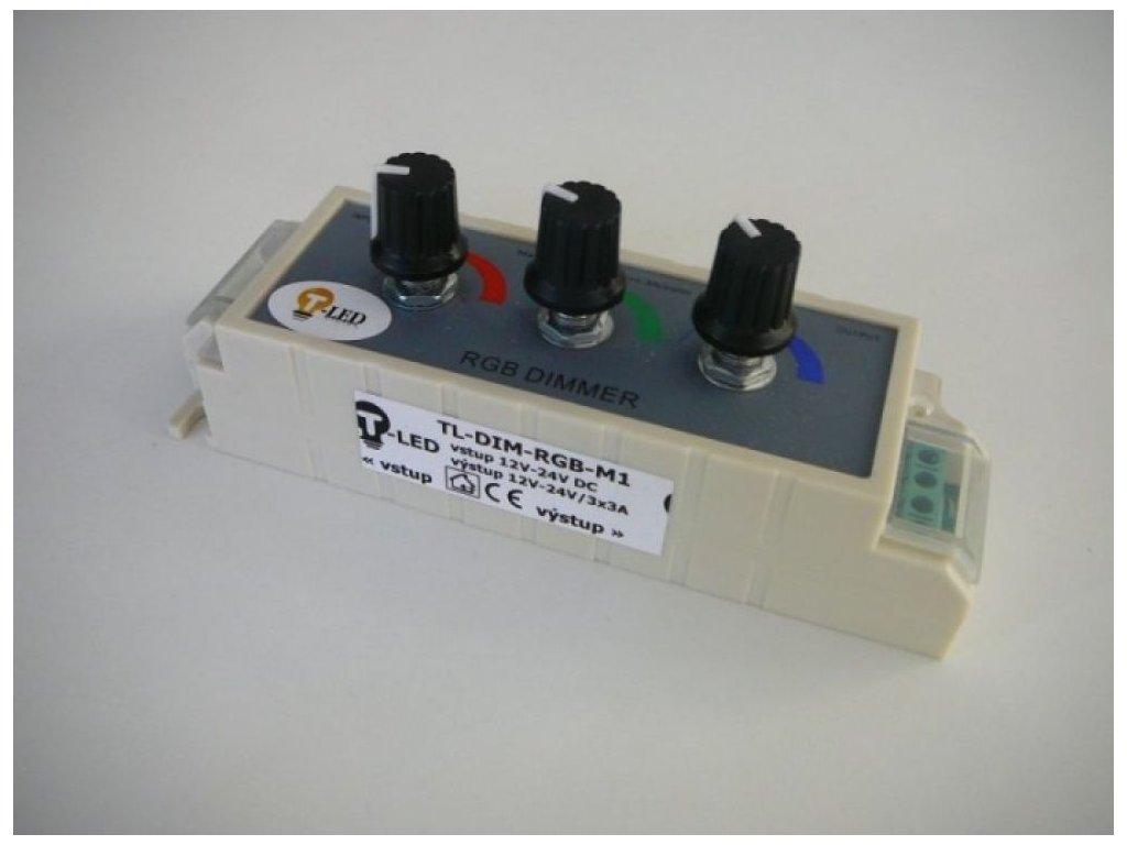 LED ovladač RGB M1 manuální - TL-DIM-RGB-M1 stmívač