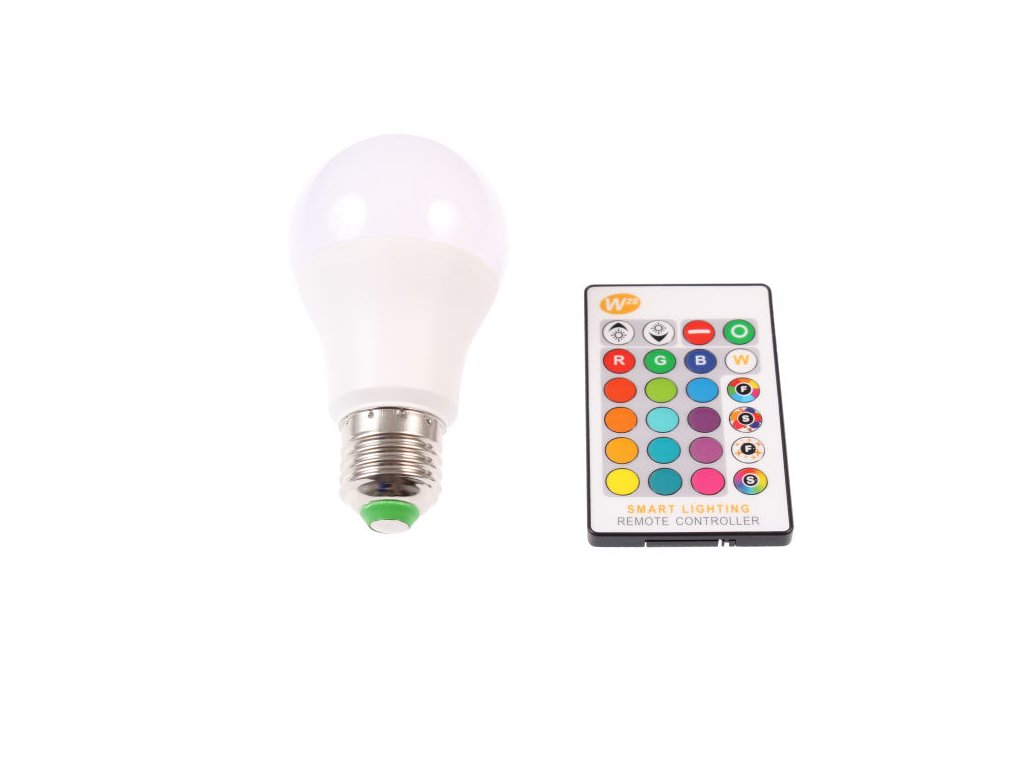 LED žárovka RGBW 5W E27 - 360° - RGBW