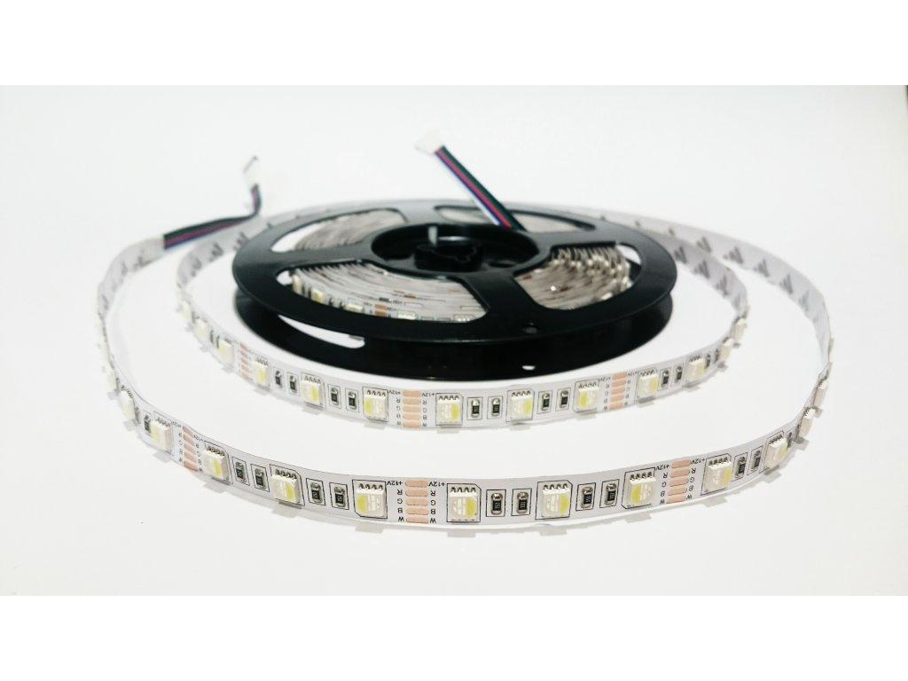 LED pásek RGBCW čip 4V1 60led/m IP20 Záruka tři roky SIKOV