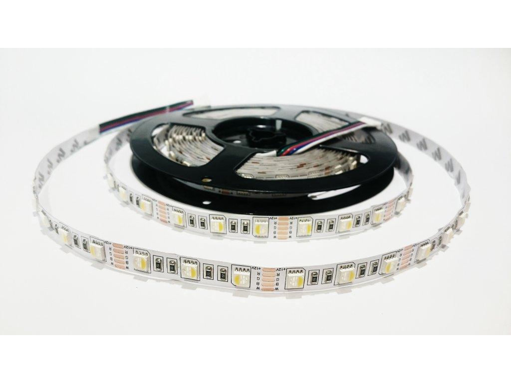 LED pásek RGBDW čip 4V1 60led/m IP20 Záruka tři roky SIKOV