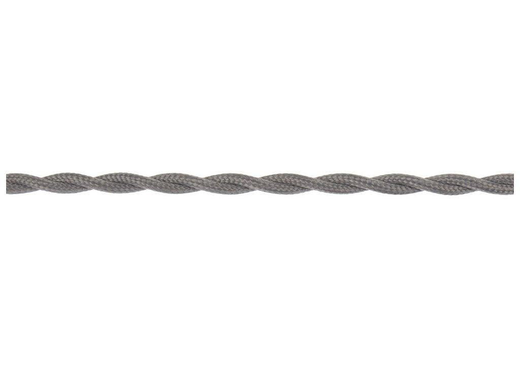 Splétaný kabel - Šedá