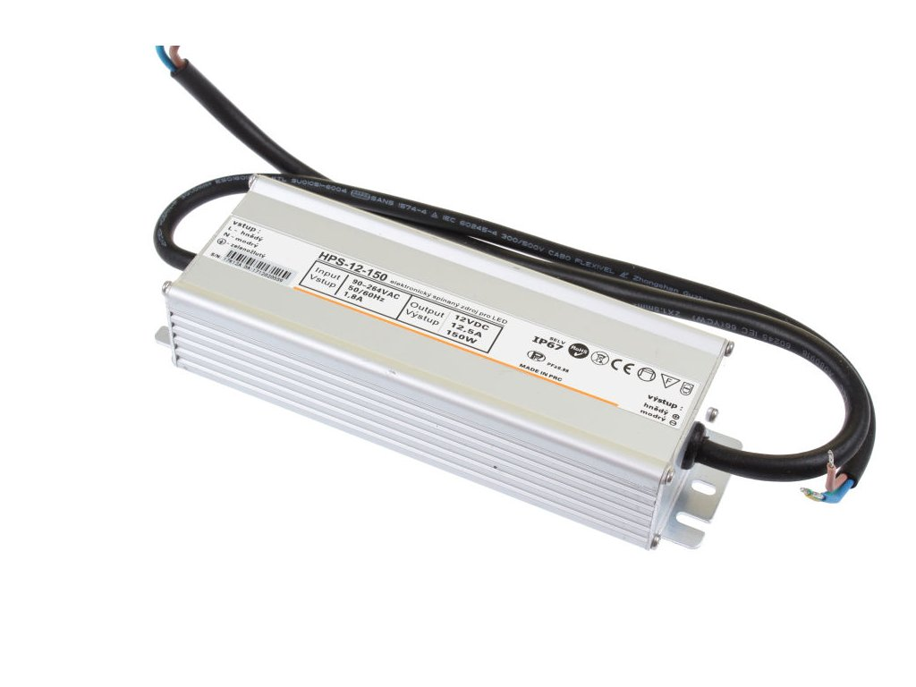 LED zdroj 12V 150W HPS-12-150 Záruka 5 let - LED zdroj 12V 150W HPS-12-150 Záruka 5 let