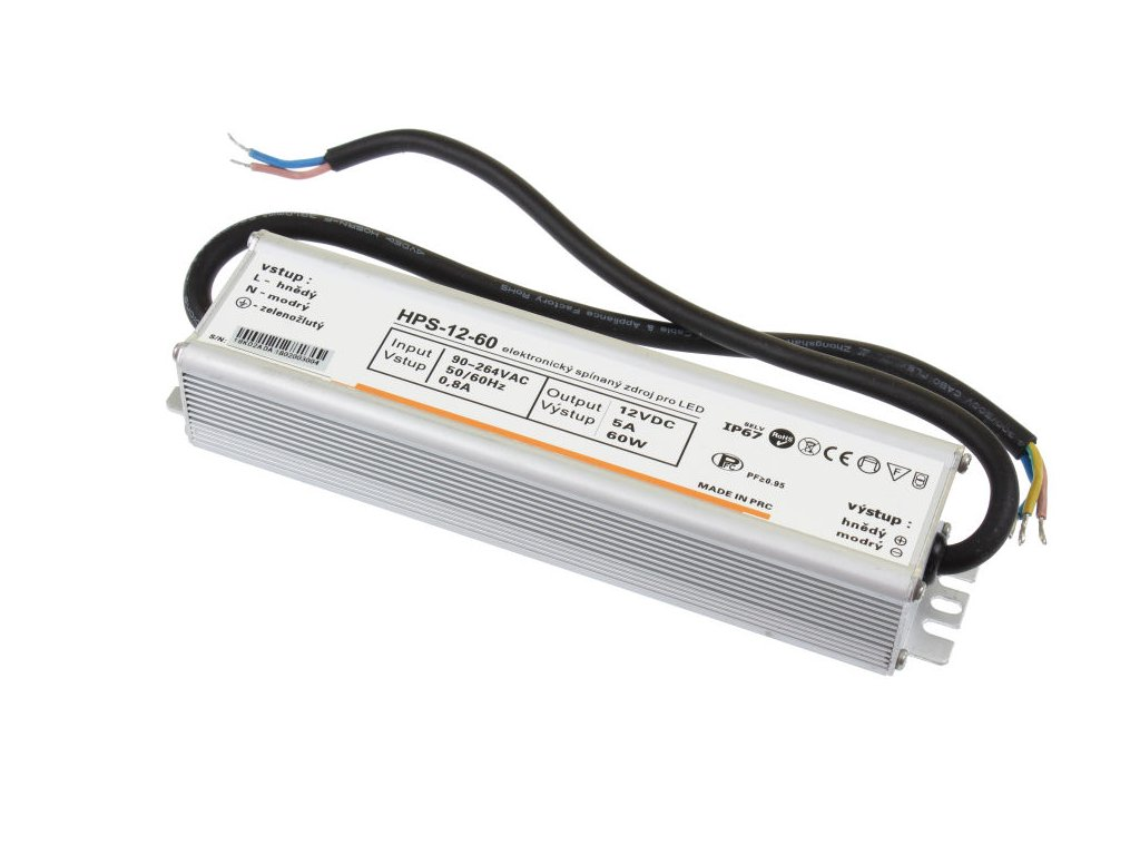 LED zdroj 12V 60W HPS-12-60 Záruka 5 let - LED zdroj 12V 60W HPS-12-60 Záruka 5 let