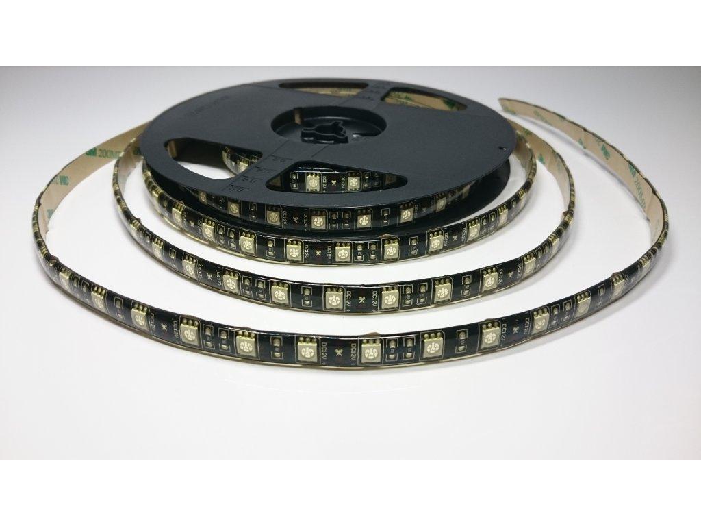 LED pásek ČERNÁ PCB 5050 12V 60led/m ORANŽOVÝ IP67 Záruka tři roky SIKOV