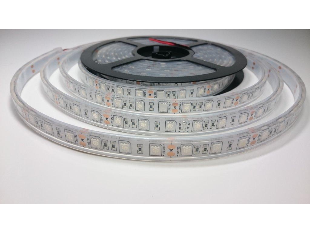 SIKOV LED pásek 5050 12V 60led/m MODRÝ IP68 Záruka tři roky