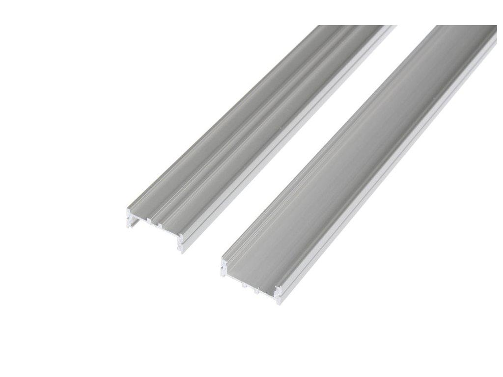 LED profil N11 široký - Profil bez krytu 2m