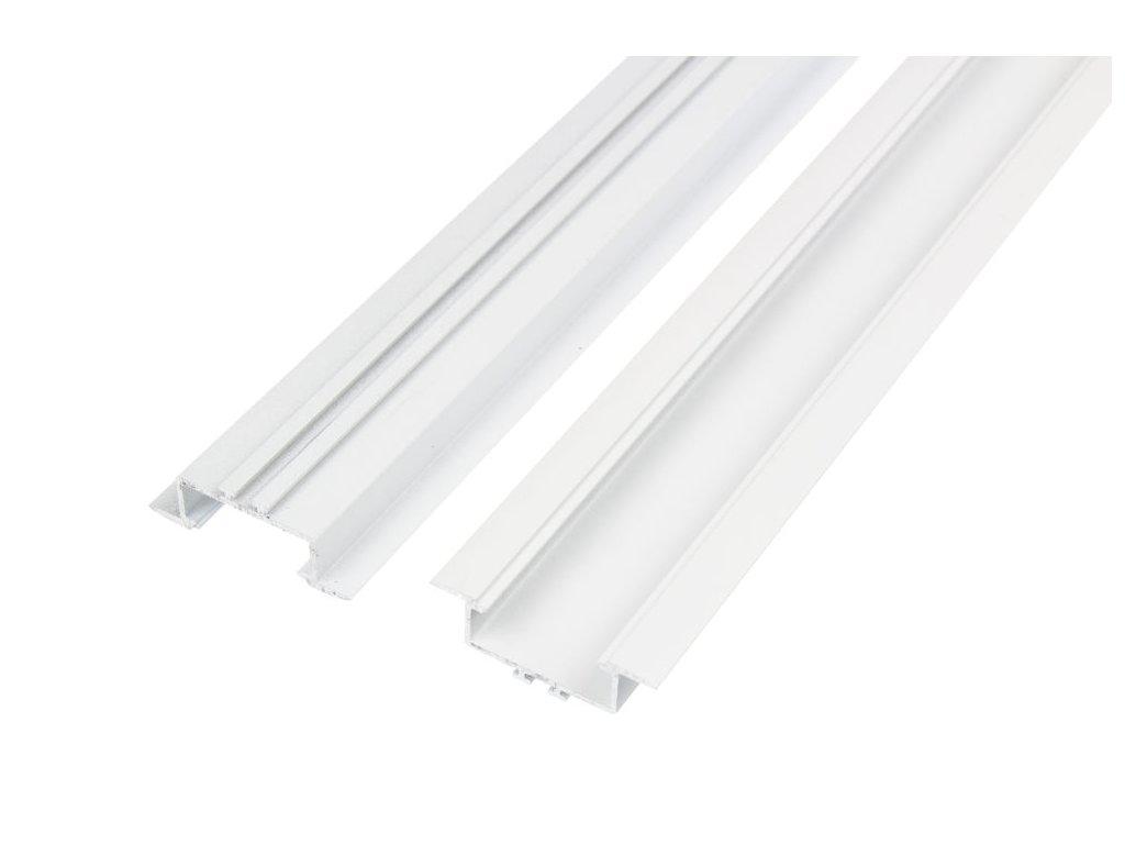 LED profil V7W vestavný bílý - Profil bez krytu 1m
