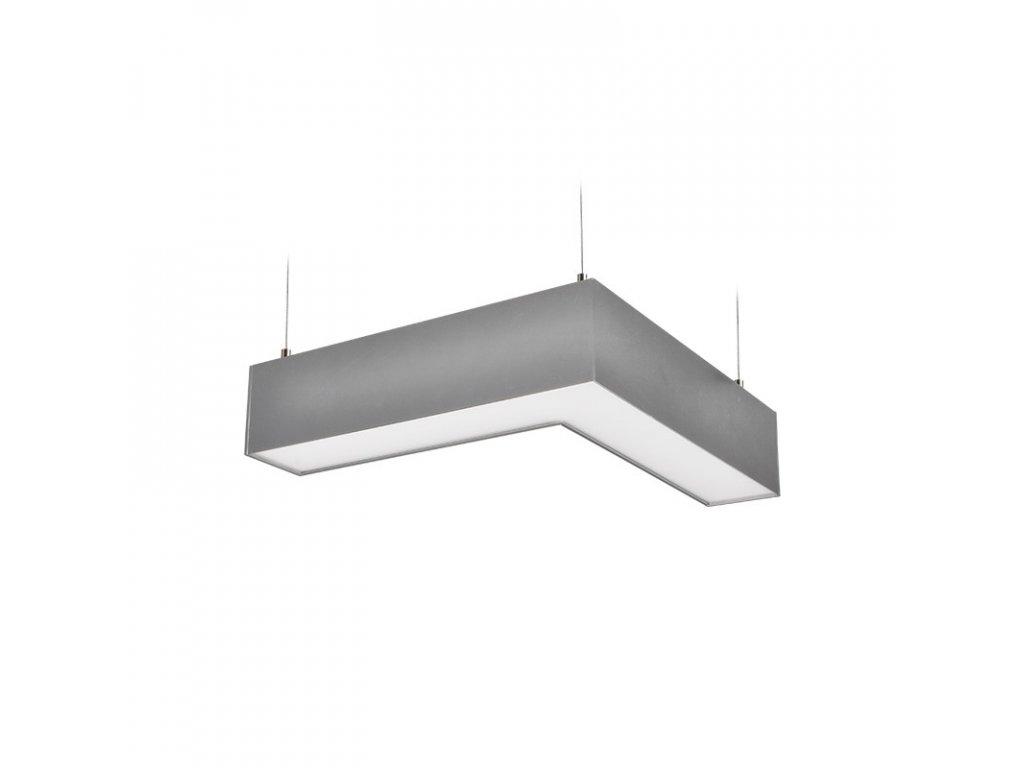 Solight LED lineární závěsné osvětlení, L konektor 18W, 1500lm, Lifud, 3 roky záruka, stříbrná barva