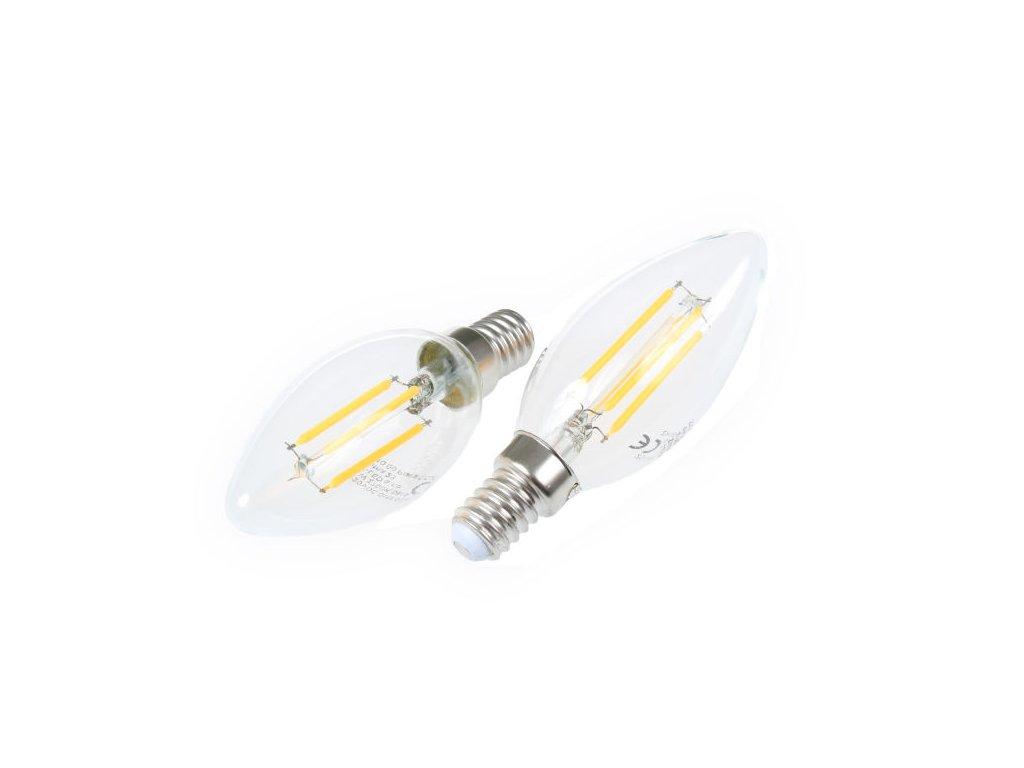 LED žárovka E14 DIMF4W FILAMENT C35 - LED žárovka E14 DIMF4W FILAMENT C35