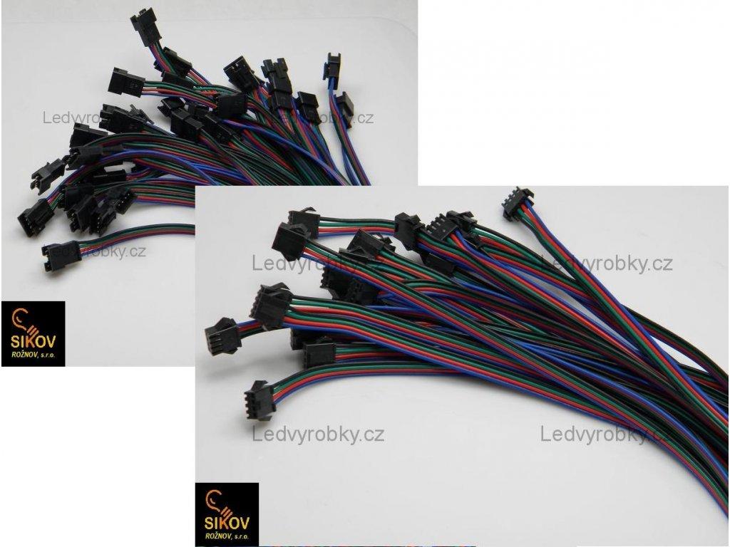 RGB konektorový spoj led pásku vidličkový - pájecí