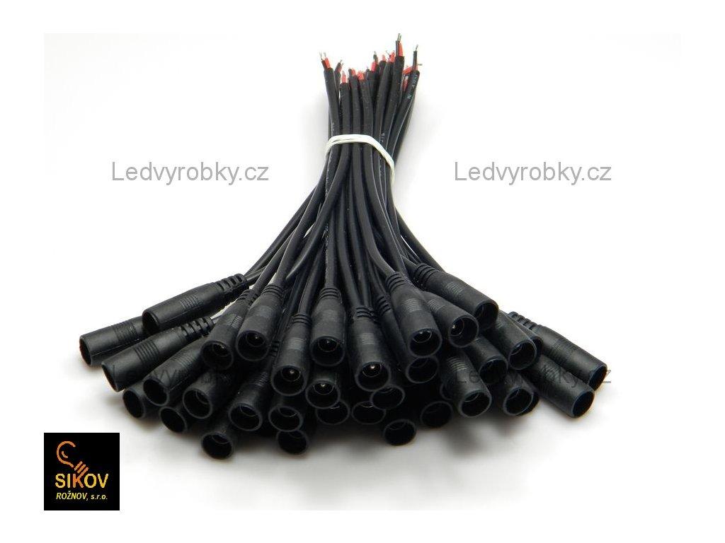Konektor jack zdířka 2,1 na kabelu, pro jednobarevný LED pásek