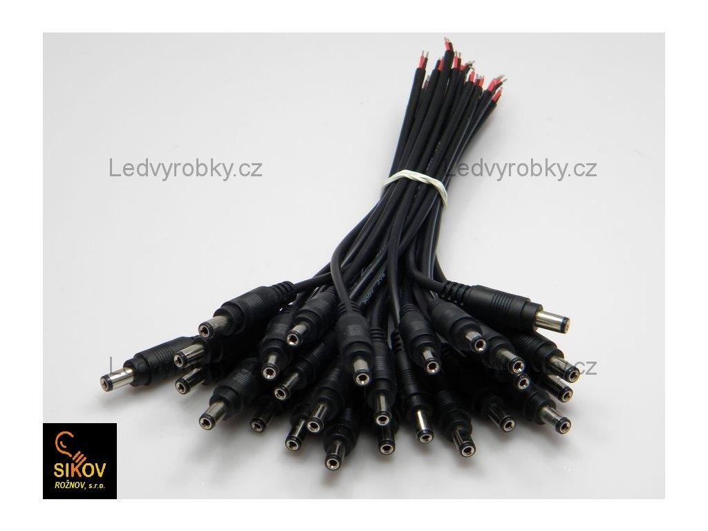 Konektor jack kolík 2,1 na kabelu, pro jednobarevný LED pásek