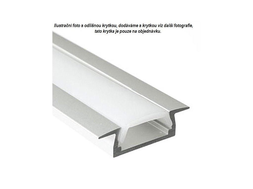 Alu profil pro led pásek zápustný ALU 2407 zápustný typ 2 ( cena za 1m )