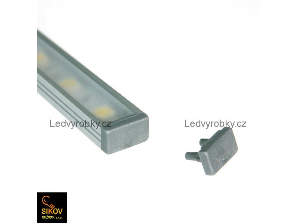 Alu profil pro led pásek ALU 2008 povrchový typ 4 ( cena za 1m )