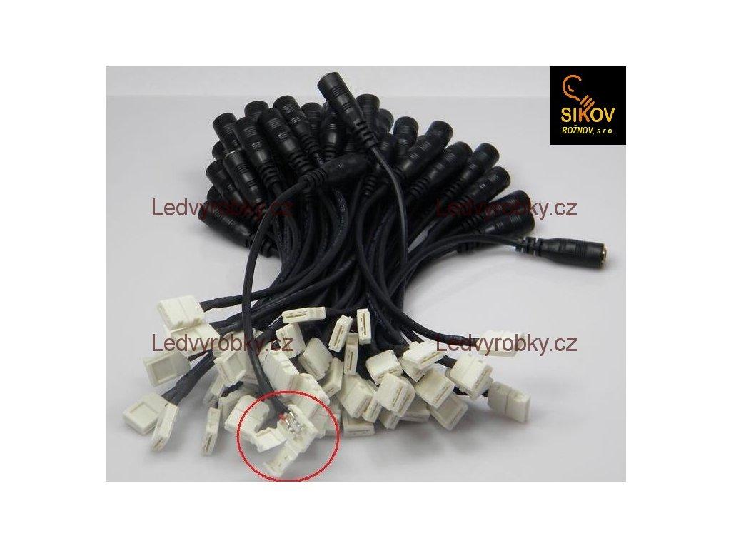 Konektor Jack zdířka na kabelu s mechanickou přípojkou - pouzdro 3528