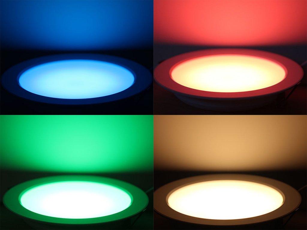LED panel kruhový RGBW sikov