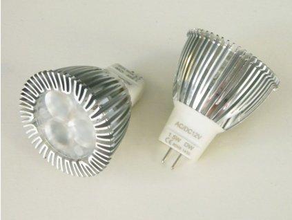 LED žárovka MR11 - 1,5W 60° - Studená bílá