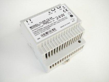 LED zdroj 12V 24W na DIN lištu - DIN lišta 12V 24W TLDR-12-24 zdroj vnitřní