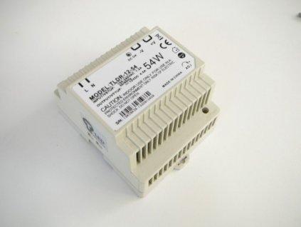 LED zdroj 12V 54W na DIN lištu - DIN lišta 12V 54W TLDR-12-54 zdroj vnitřní