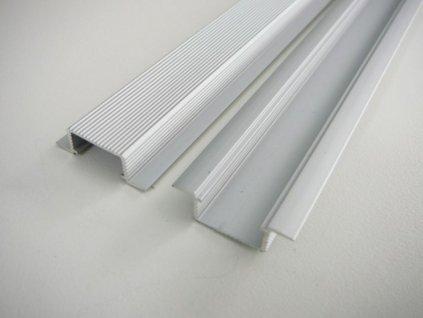 LED profil V5 - vestavný - Profil bez krytu 1m