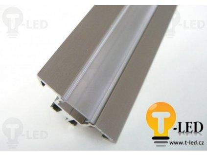 LED profil R1B - rohový - Profil bez krytu 2m