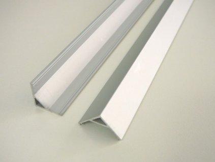 LED profil R5 - rohový - Profil bez krytu 1m