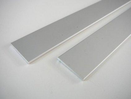 LED profil plochý ELOX 15x2 a 25x2 mm - 25 plochý -1m ELOX 25x2mm