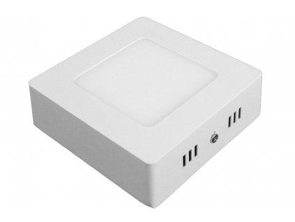 PS6 LED panel 6W přisazený čtverec 115x115mm - Teplá bílá