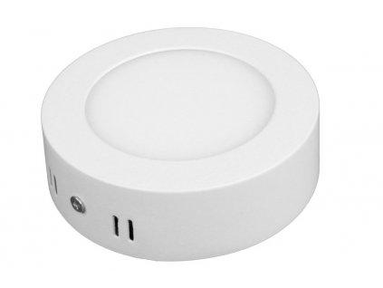PL6 LED panel 6W přisazený kulatý 115mm - Teplá bílá