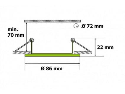 Podhledový rámeček TLZ-9000 (316) kartáčovaný hliník - TLZ-9000 (316) podhledový rámeček